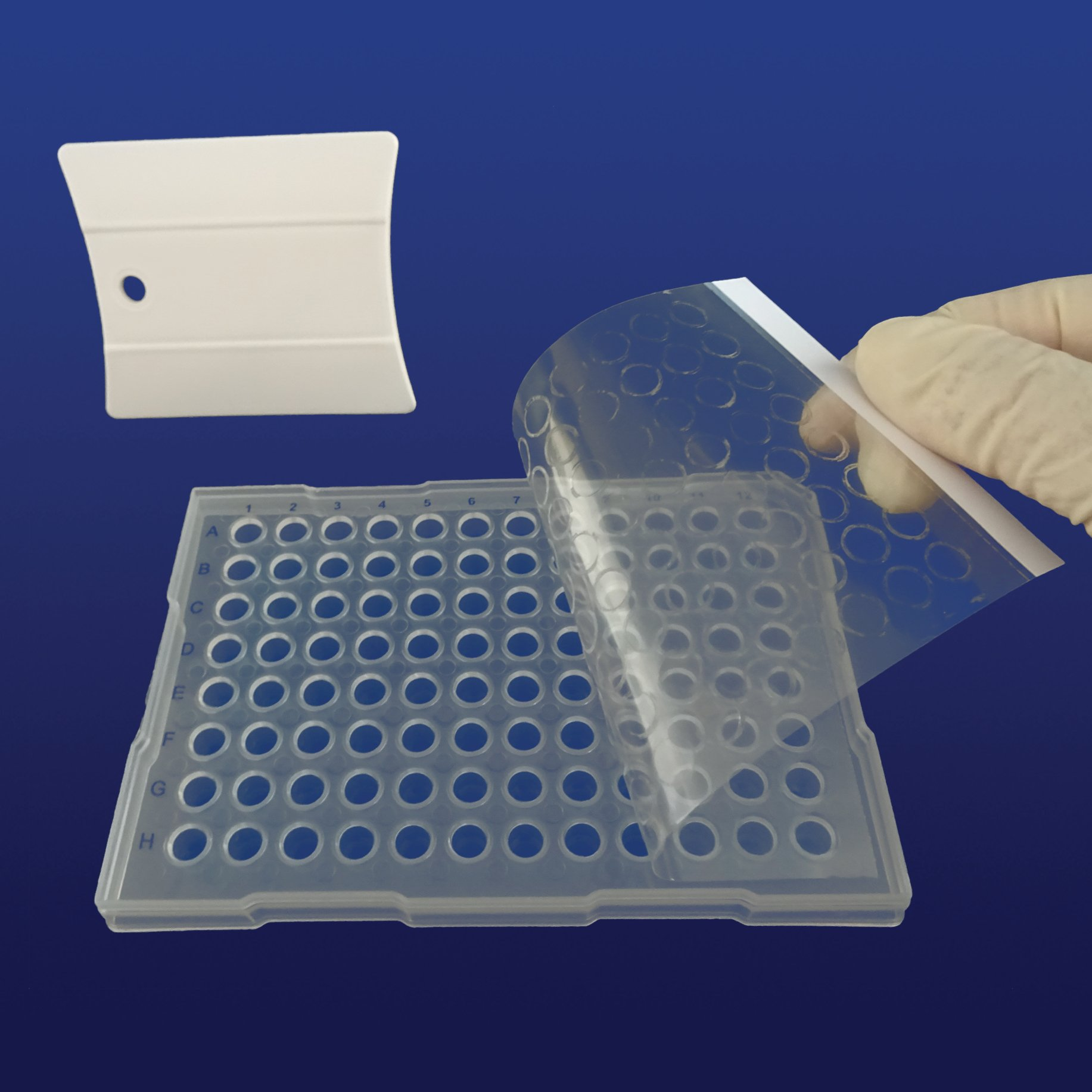 PlateSeal Film, Optically Clear Polyolefin, Pressure-Activated Adh,Sterile (50)