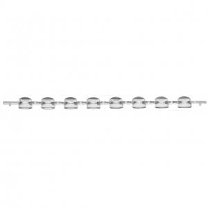 Cap 8 Strip for 034-3426.8 Tubes Clear (125)