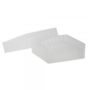 81-Place Tube Storage Box with Lid, Clear
