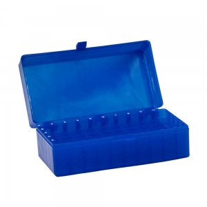 50-Place Tube Storage Box with Lid, Blue (5/pack)