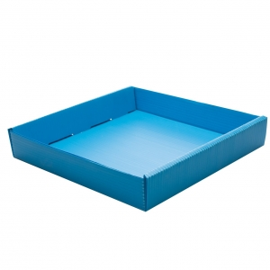 Corrugated plastic trays for wide vials-  Blue