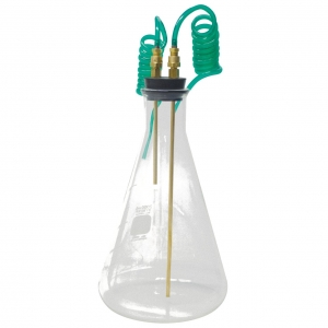 CO2 Bubbler Kit, 2000ml #10 rubber Stopper (1)