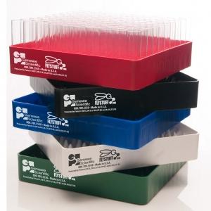 Plastic Fly Vial Re-load Trays, Narrow, Green (12)