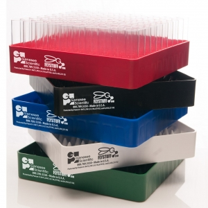 Plastic Fly Vial Re-load Trays, Narrow, Red (12)