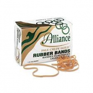#33 Rubber Bands, 1 Lb Box Plate Crepe Gold (970)